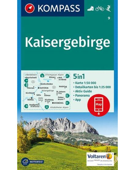 Cartographia  - K 9 Kaisergebirge turistatérkép
