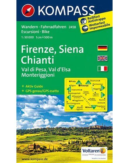 Cartographia  - K 2458 Firenze, Siena, Chianti turistatérkép