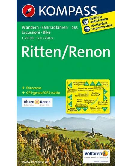 Cartographia  - K 068 Ritten/Renon turistatérkép
