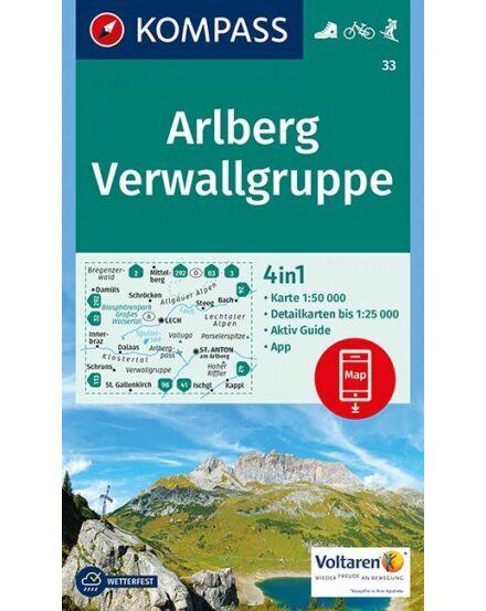 Cartographia  - K 33 Arlberg, Verwallgruppe turistatérkép