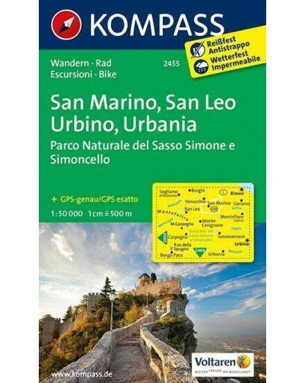 Cartographia  - K 2455 San Marino, San Leo, Urbino, Urbania turistatérkép