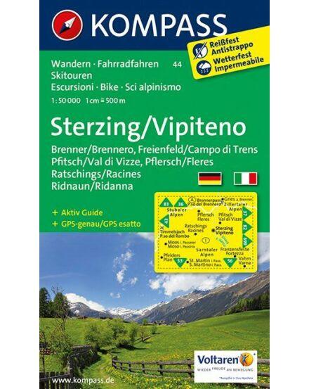 Cartographia  - K 44 Sterzing, Ratschings, Ridnaun, Pfitsch/Vipiteno turistatérkép