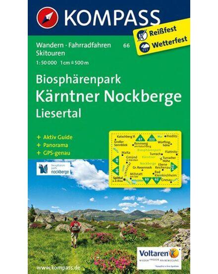 Cartographia  - K 66 Nockberge Nemzeti Park -Liesertal turistatérkép