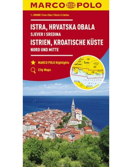 Cartographia  - Isztria, Dalmát-tengerpart észak és közép térkép