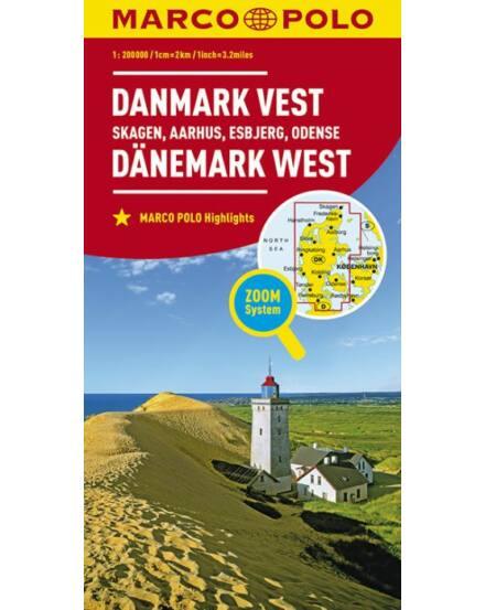 Cartographia  - Dánia résztérkép- Skagen, Esbjerg, Arhus, Obensee
