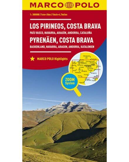 Cartographia  - Pireneusok, Costa Brava térkép