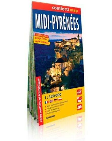 Cartographia  - Midi Pireneusok (déli rész) Comfort térkép
