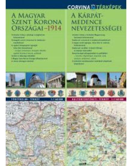 Cartographia  - Szent korona 1914/ Kárpát medence nev. duo tkp. (Corvina)
