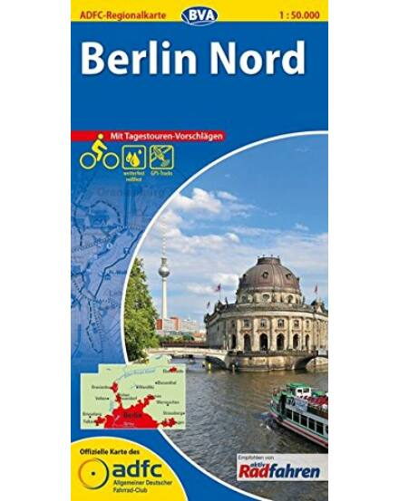 Cartographia  - ADFC kerékpáros régiótérkép - Berlin Észak