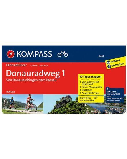 K 6464 Donauradweg 1 Donauesch.-től Passau-ig kerékpáros útikönyv