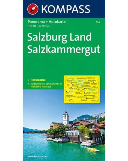 Cartographia  - K 334 Salzburg és környéke, Salzkammergut panoráma- és autótérkép