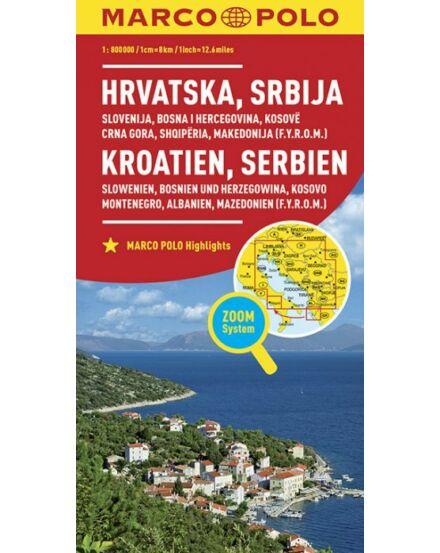 Cartographia  - Horvátország, Szerbia, Szlovénia, Bosznia-Hercegovina, Koszovó, Montenegró térkép
