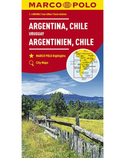 Cartographia  - Argentína, Chile Uruguay térkép
