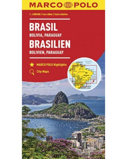 Cartographia  - Brazília, Bolívia, Paraguay, Uruguay térkép