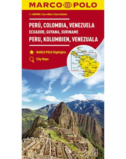 Cartographia  - Peru, Kolumbia, Venezuela, Ecuador, Guyana, Suriname térkép