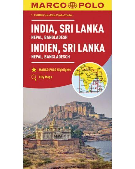 Cartographia  - India, Sri Lanka, Nepál, Banglades térkép
