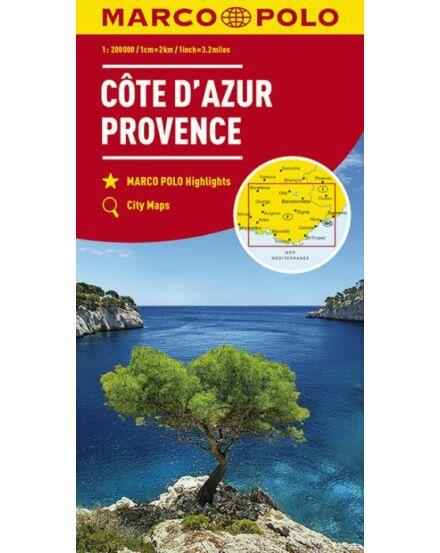 Cartographia  - Franciaország résztérkép - Cote d'Azur, Provence