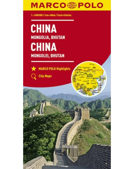 Cartographia  - Kína, Mongólia, Bhután térkép