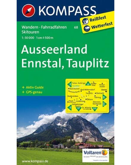 Cartographia  - K 68 Ausseerland-Ennstal turistatérkép