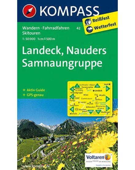 Cartographia  - K 42 Landeck, Nauders, Samnaungruppe turistatérkép