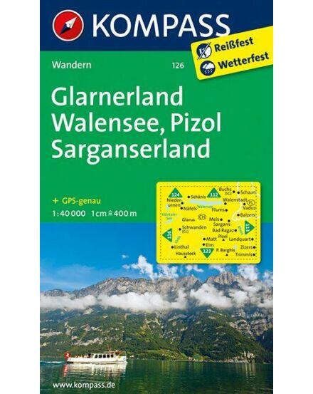 Cartographia  - K 126 Glarnerland, Walensee turistatérkép
