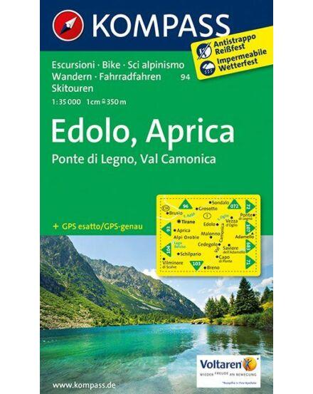 Cartographia  - KOMP 94 Edolo-Aprica turistatérkép