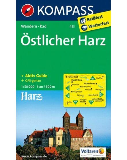 Cartographia  - KOMP 453 Östlicher Harz (Kelet) turistatkp.