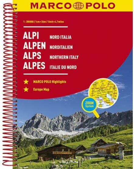 Cartographia  - Alpok/Észak-Olaszország atlasz (Marco Polo)