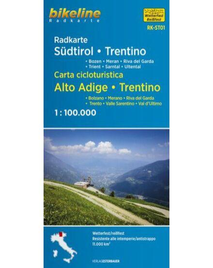 Cartographia  - Dél-Tirol kerékpáros térkép