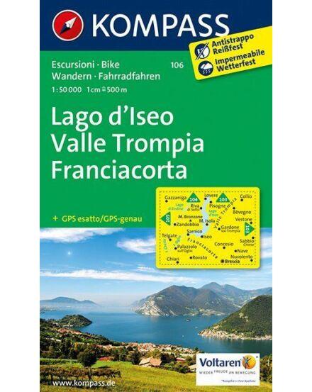 Cartographia  - Lago d'Iseo - Valle Trompia - Franciacorta turistatérkép