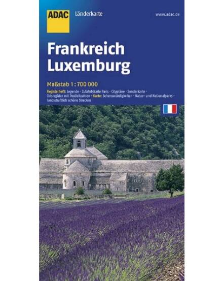 Cartographia  - Franciaország, Belgium és Luxemburg térkép