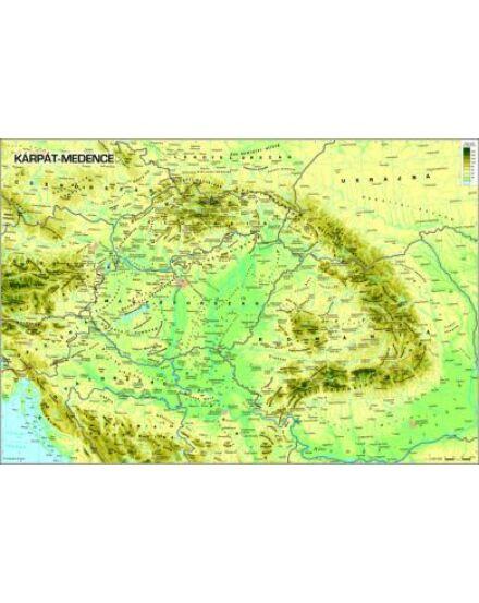 Cartographia  - Kárpát-medence domborzata keretes falitérkép