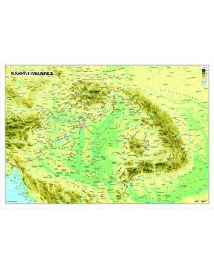 Cartographia  - Kárpát medence domborzata fóliás falitérkép
