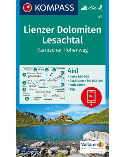 Cartographia  - K 47 Lienzer Dolomiten-Lesachtal turistatérkép