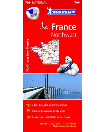 Franciaország - Észak-Nyugat térkép (706)