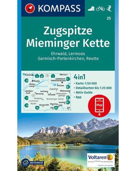 Cartographia  - K 25 Zugspitze, Mieminger Kette turistatérkép