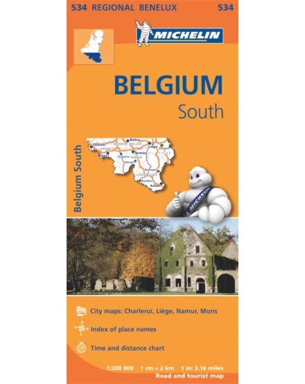 Cartographia  - Benelux régiótérkép - Belgium-Dél térkép (534)