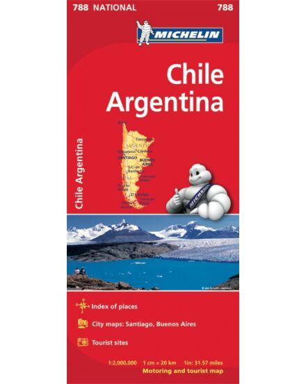 Cartographia  - Chile, Argentína térkép 0788