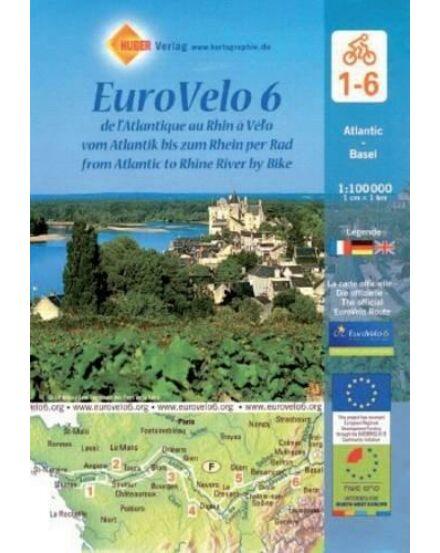 Cartographia  - Eurovelo 6 kerékpáros térképszett - Atlanti-óceántól-Baselig