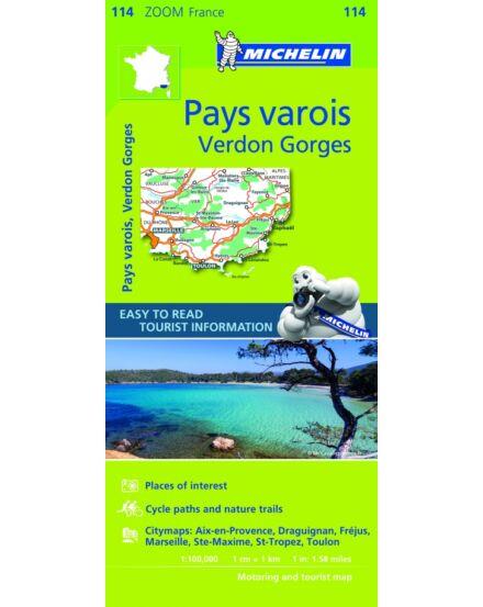 Cartographia  - Francia Riviéra és a Verdon folyó térkép (Pays varois) (114)