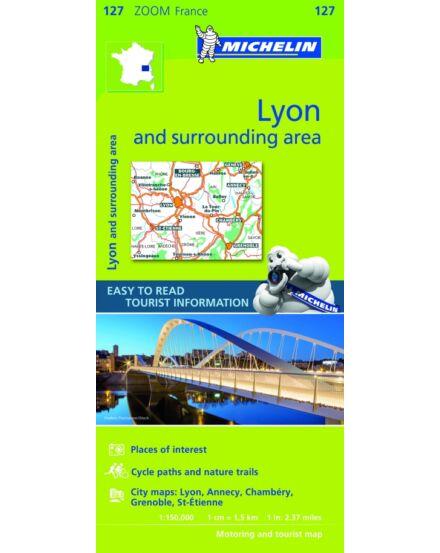 Cartographia  - Francia Zoom - Lyon és körny. tkp.0127