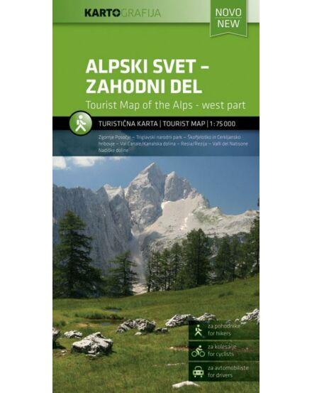 Szlovén Alpok - Nyugat turistatérkép