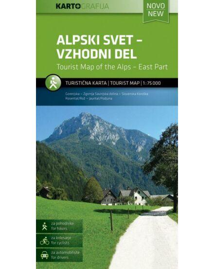 Cartographia  - Szlovén Alpok - Kelet turistatérkép
