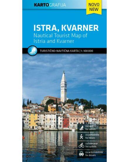 Isztria, Kvarner-öböl turisztikai és hajózási térkép