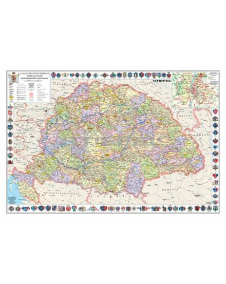 Cartographia  - A Szent Korona országai falitérkép