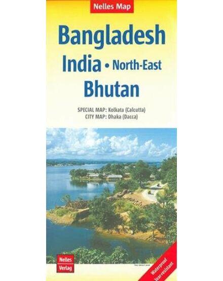 Cartographia  - Bangladesh, Észak-kelet India, Bhutan térkép