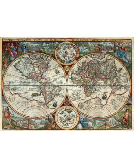 Cartographia  - Történelmi világtérkép GN0685 - keretes