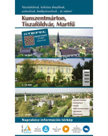 Cartographia  - Kunszentmárton, Tiszaföldvár, Martfű várostérkép