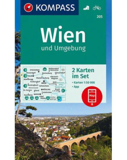 Cartographia  - K 205 Bécs és környéke turistatérkép