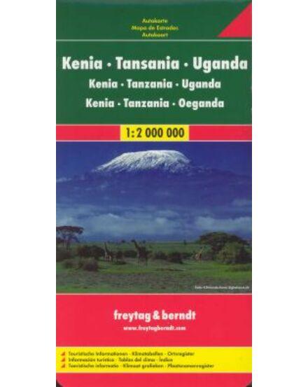 Cartographia  - Kenya - Tanzánia - Uganda térkép